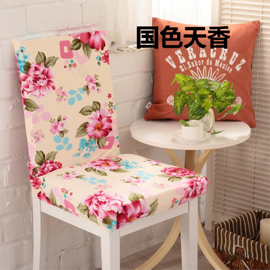 Dining Chair Cover Aliexpresscom Buy 1 Piece Sure Fit Soft Stretch Spandex Pattern
