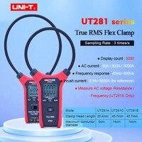 UNI-T UT281A/UT281C/UT281E True RMS 스마트 AC 3000A 유연한 클램프 미터 멀티 미터 전류계 백라이트 디스플레이