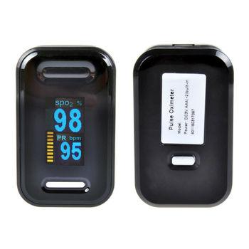 Nowy!! Pulsoksymetr napalcowy z futerałem palca Oximetro de pulso de dedo LED pulsoksymetry Saturator Pulsioximetro tanie i dobre opinie ELERA YK-83C 57mm(L)*31mm(W)*30 5mm(D) Palec Oksymetria Green Blue Pink Yellow gray 2*AAA 1 5V battery SPO2 PR