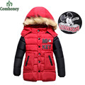 Boys Coat Girls Winter Jacket Baby Padded Jacket Hooded Minnie Mouse 4-8T Children Coat Thick Sport Outerwear Bebe Kids Clothing