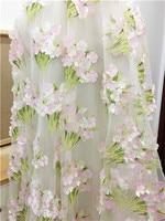 Stereo Hydrangea fresh pastoral drape dress dress fabric and cloth accessories DIY