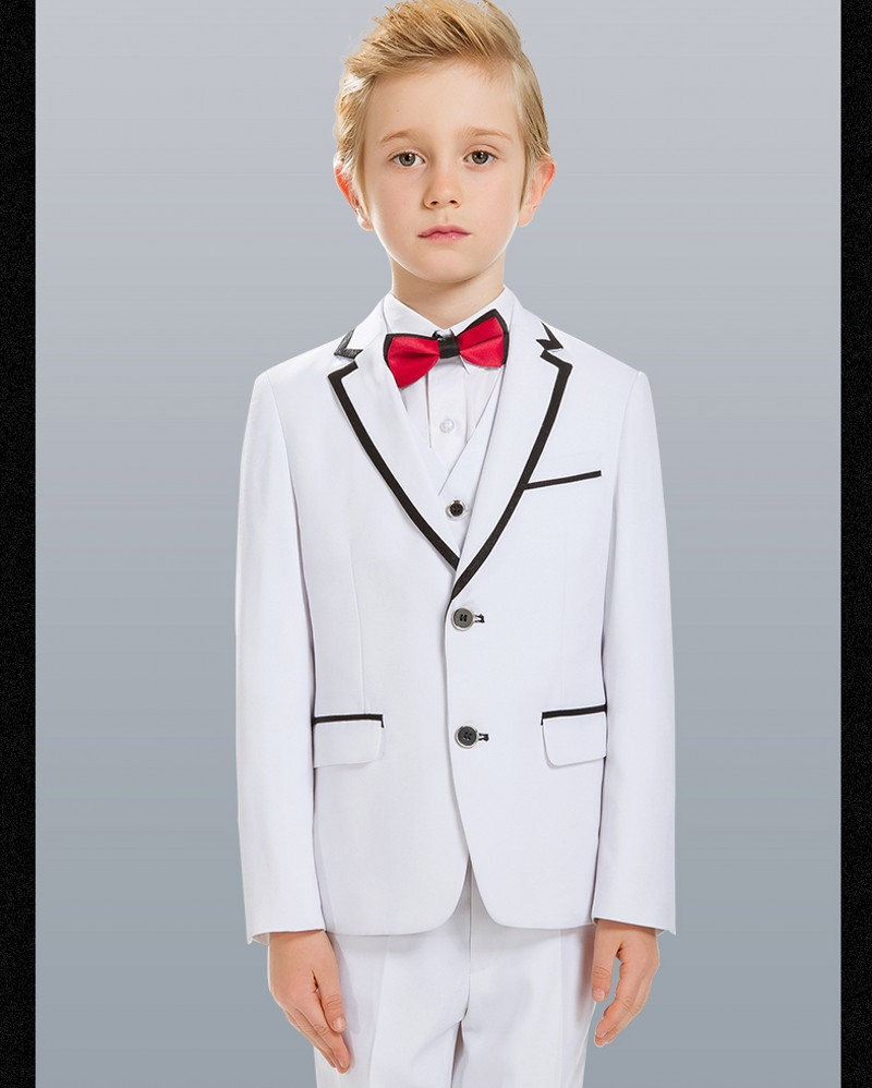Custom Made Two Buttons Boy Tuxedos 2017 Notch Lapel Children Suits ...
