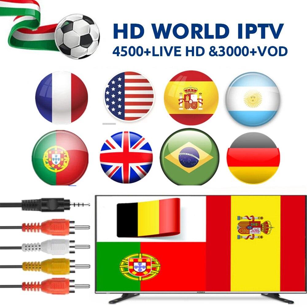 12 mês M3u Abonnement IPTV Iptv UK Duits Frans Arabisch Spaans Italië VOD Arabisch Premium Enigma2 Voor Caixa Android Inteligente TV X