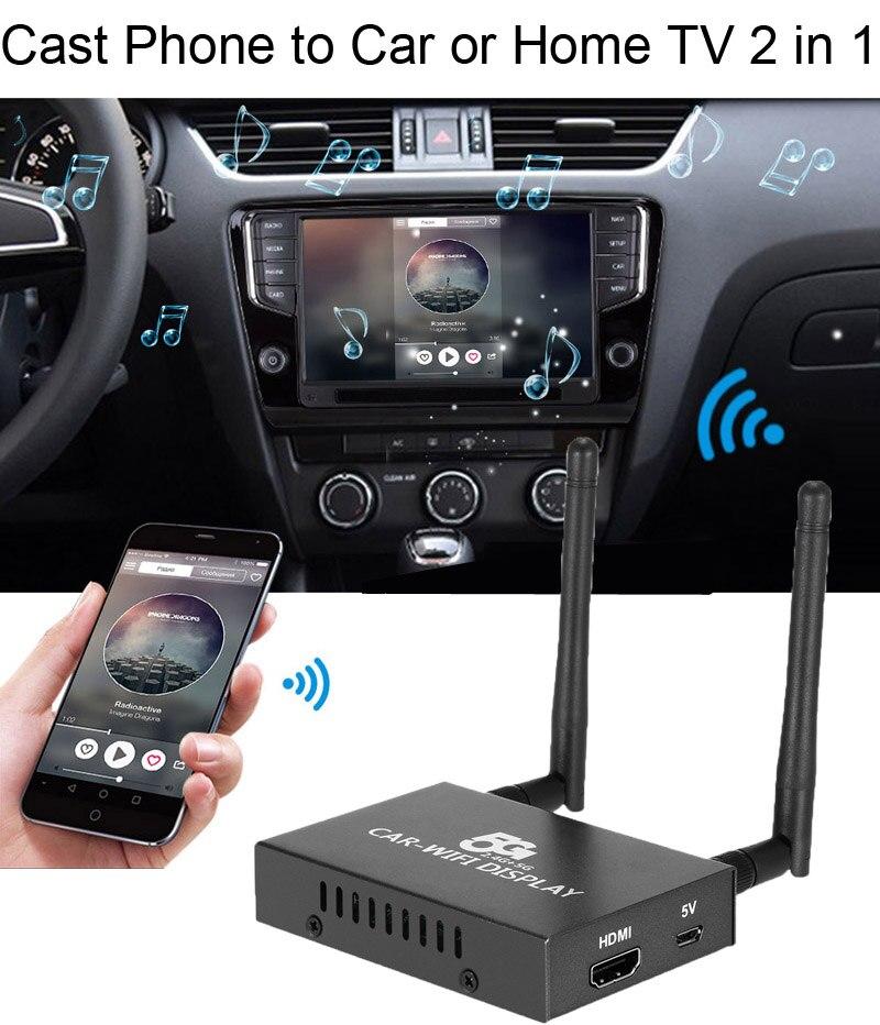 1080P 5G voiture WiFi affichage Dongle récepteur Airplay Miracast DLNA CVBS HDMI écran miroir boîtier téléphone intelligent à TV HDTV projecteur