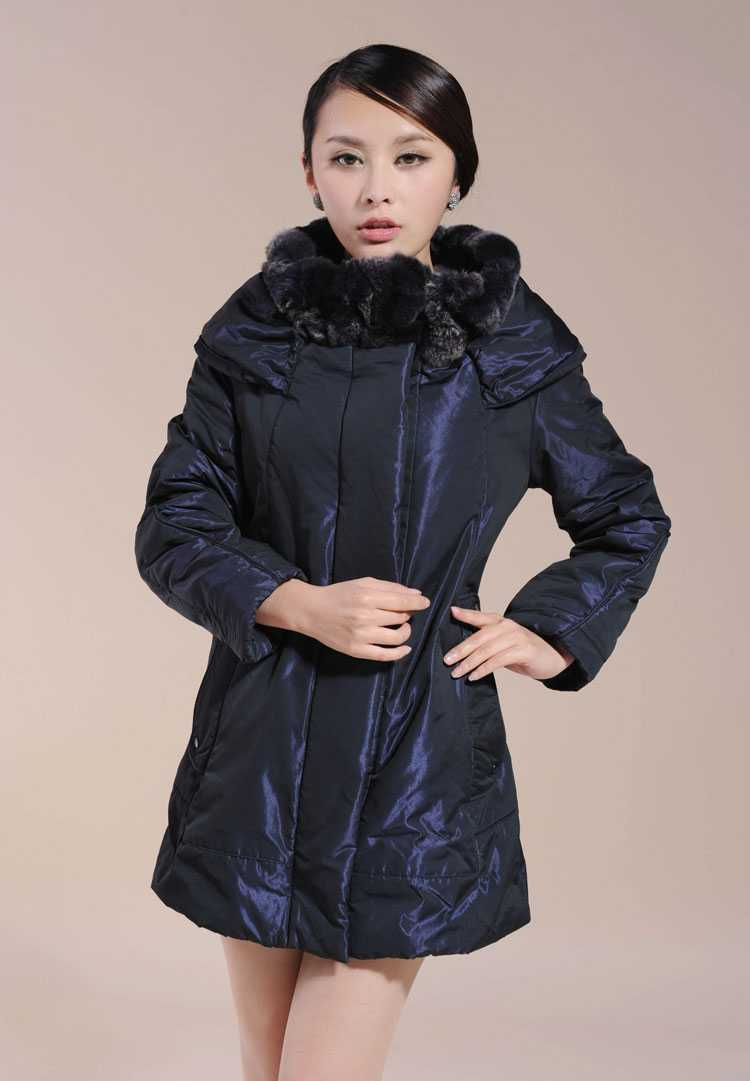 New  Rex Rabbit Fur Collar Winter Coat Jacket Women Fashion Ladies Thicken Warm Long cotton Coats Women Wadded Outerwear H4703 2017 winter new clothes to overcome the coat of women in the long reed rabbit hair fur fur coat fox raccoon fur collar