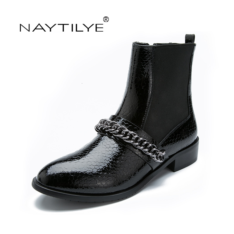 Woman flats boots new model pu eco leather spring autumn for New model boot