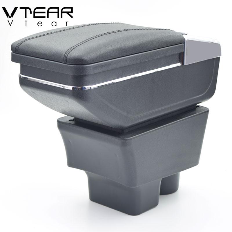 Vtear Pour Skoda Fabia/fabia 2 boîte accoudoir central boîte de contenu de Magasin porte-gobelet intérieur voiture-styling décoration accessoire 08-17