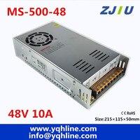Hoge kwaliteit Kleine maat 500 W voeding uitgang 48 V 10A LED smps ingang 110/220 v ac-dc transformator mini maat MS-500-48