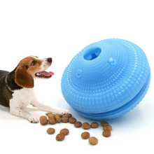 Dog Toys Natural Rubber Leaking Ball Pet Cat Interactive Toy Chew Tooth Cleaning Elasticity Balls