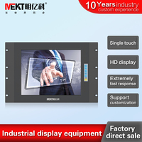 19/17/12/10.4/15 inch RS232 touch screen monitor/ front panel waterproof/Railway/ship/CNC equipment display