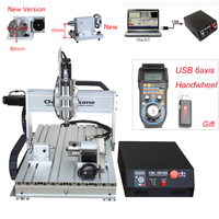 CNC 6040 2 2KW 4 Axis CNC Router CNC Wood Carving Machine USB Mach3 Control Woodworking