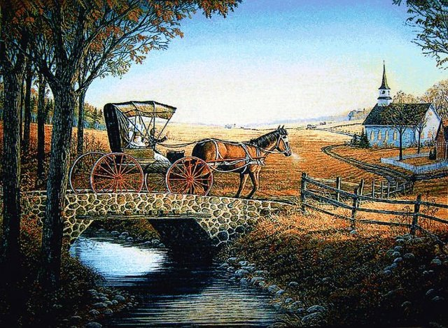 Free shipping scenery wall tapestry,classical design size 30x40cm,Classical Carriage