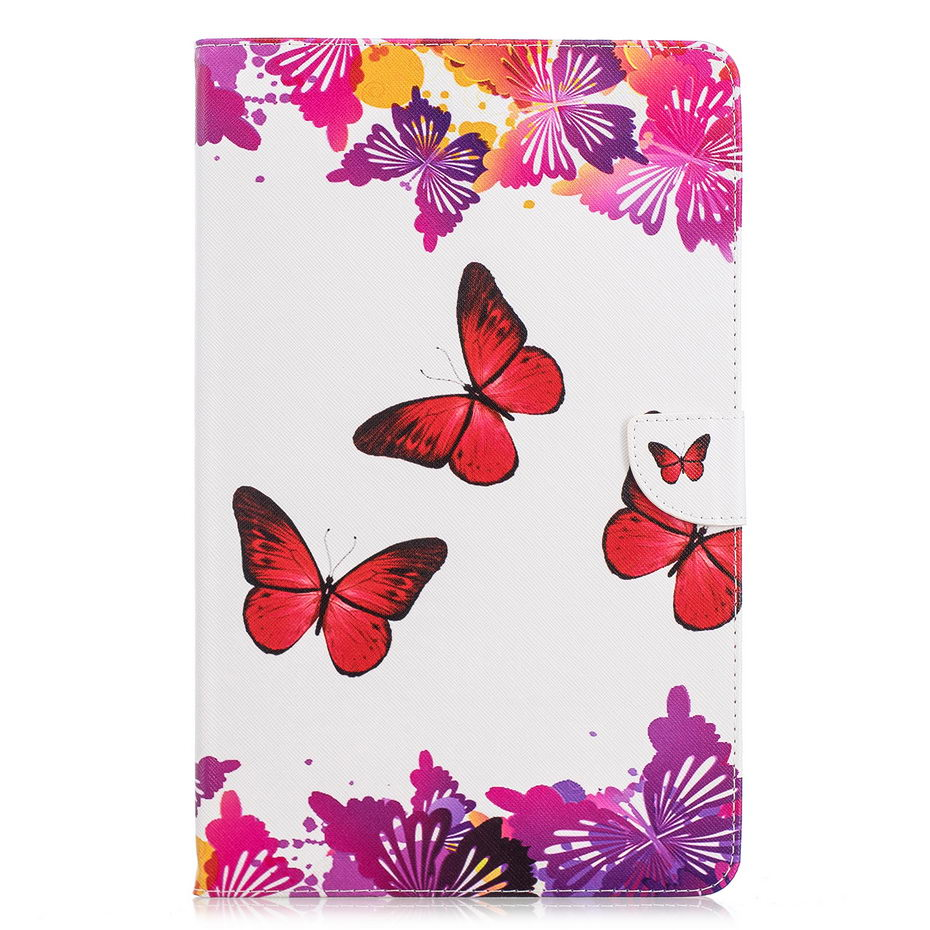 Leather Case For Samsung Galaxy Tab A A2 2018 10.5 Inch T590 T595 T597 SM-T590 Cover Funda Tablet Painted Stand Shell