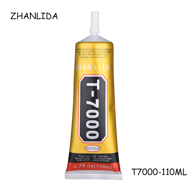 ZHANLIDA 110ml T7000 Stronger Glue T-7000 Super Liquid Glue Black Sealant Adhesive For Phone Touch Screen Frame Repair Diy Tools stronger new t 7000 glue 50ml black super adhesive cell phone touch screen repair frame sealant diy craft jewelry tools t7000