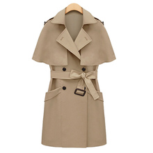 autumn and winter fashion poncho cape trench sleeveless vest women outerwear