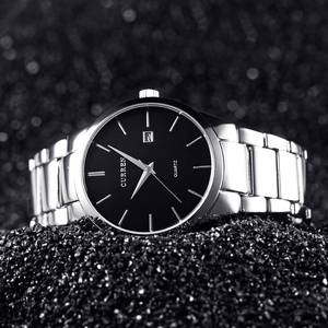 Image 5 - Curren יוקרה מותג גברים אופנה עסקים CalendarWatch גברים מים עמיד קוורץ שעון 8106