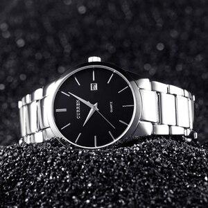 Image 5 - Curren Luxe Merk Mannen Mode Business Calendarwatch Mannen Water Resistant Quartz Horloge 8106