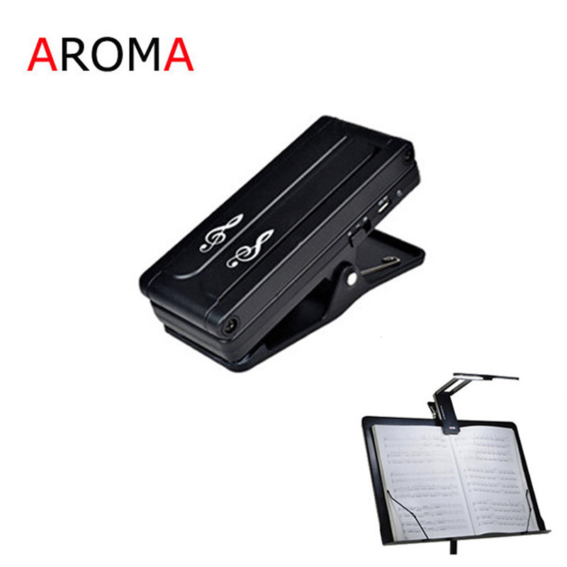 Aroma AL-1 Clip-on Rechargeable Music Stand Lamp for Guitar Piano LED Stage Light Universal Compact Portable USB Charge aroma al 1 stand lamp