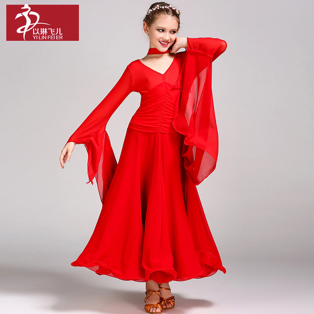Новая мода для девочек Бальные Стандартный Танцы платье Танцы одежда современном этапе Танцы костюмы