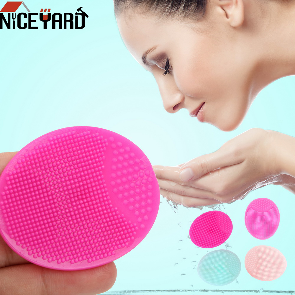 NICEYARD Face Wash Pad Sponges Scrubbers Super Soft To Exfoliating SPA Blackhead Facial Clean Brush Silicone Baby Shower