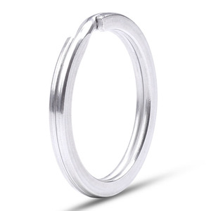 Image 2 - Stainless Steel Key Ring Flat Ring Metal Accessories Wire Dia 1.5/1.6/1.8/2.0/2.2/2.4/2.6mm Key Chain Holder Wholesale 300pcs