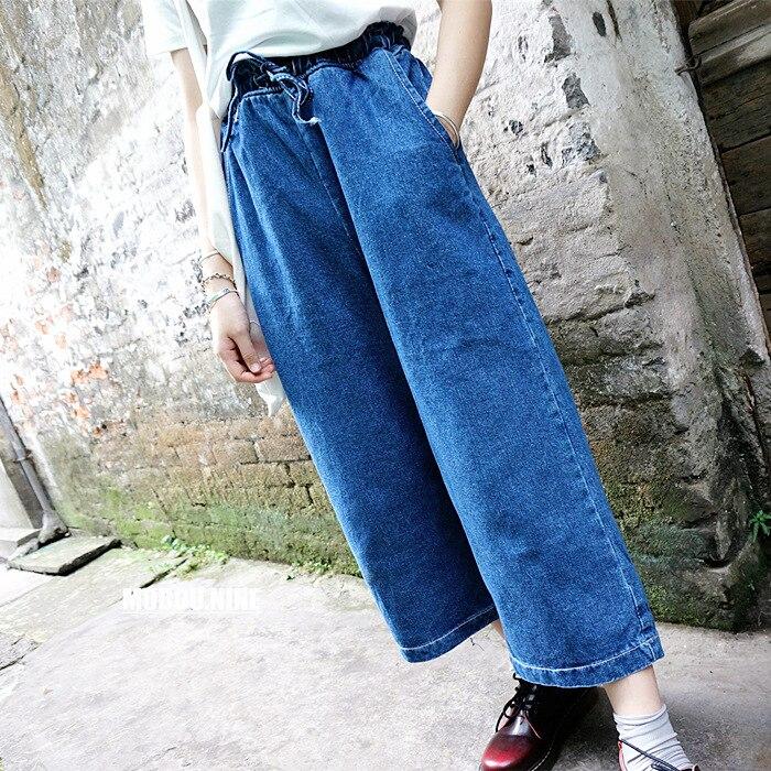 Women's Clothing Lovely 2019 New High Waist Denim Jeans For Women Gold Velvet Plus Velvet Jeans Wide Leg Pants Ladies Jeans Woman Female Loose Pants Bottoms