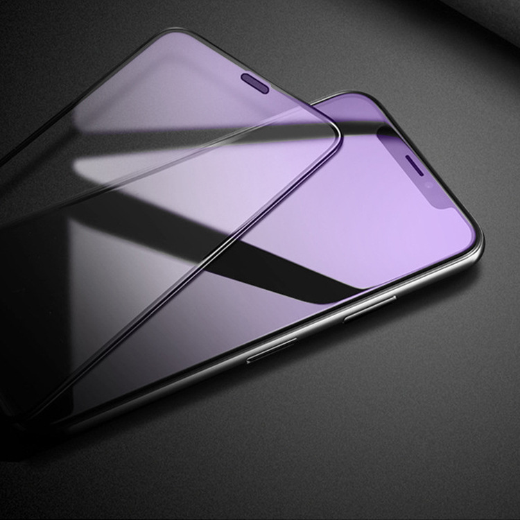 For OPPO A7 A51 K1 R15 R15X R17 Anti Purple Light 9H Full Cover Tempered Glass For OPPO R17 PRO A79 A83 Screen Protector in Phone Screen Protectors from Cellphones Telecommunications