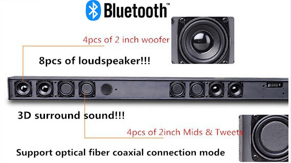 Wireless Bluetooth Surround Sound System Home Entertainment Theater Speaker Set
