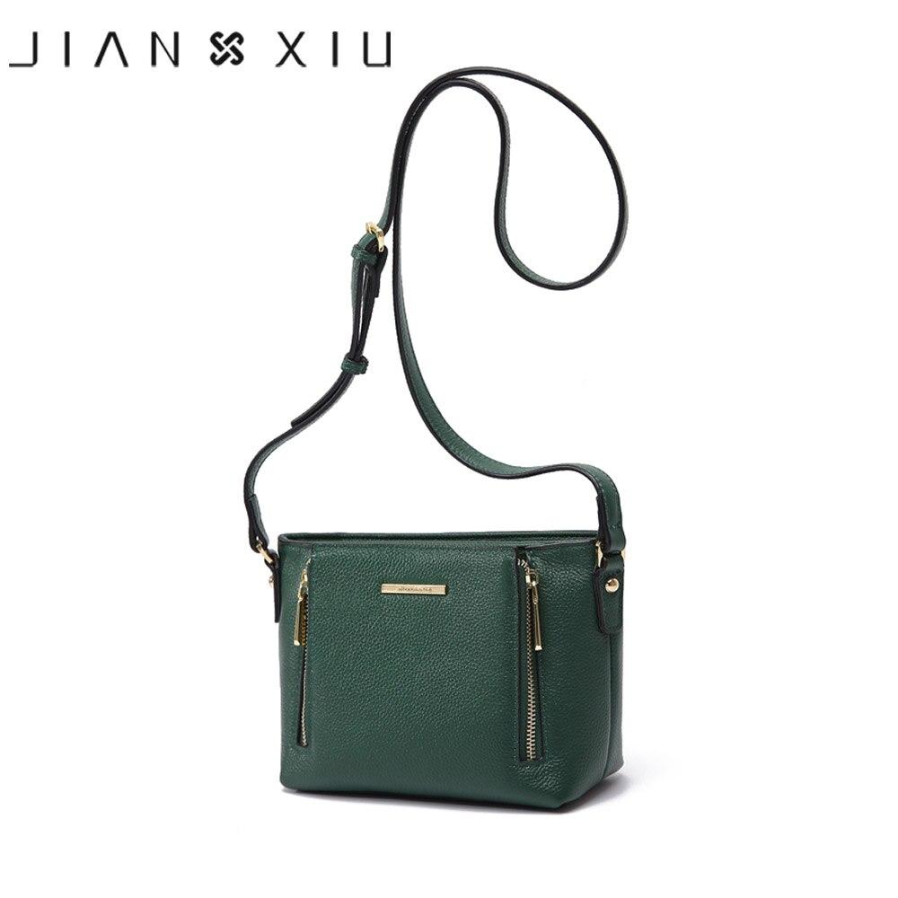 JIANXIU Brand Women Messenger Bags Double Zipper Design Shoulder Crossbody Bag 2019 Newest Small Tassen Genuine