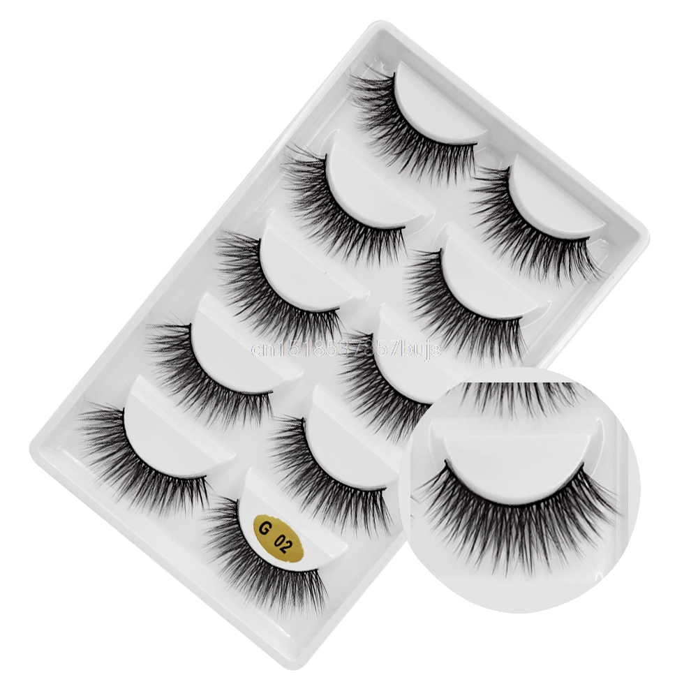 HTB1F54QXIvrK1Rjy0Feq6ATmVXaw New 3D 5 Pairs Mink Eyelashes extension make up natural Long false eyelashes fake eye Lashes mink Makeup wholesale Lashes