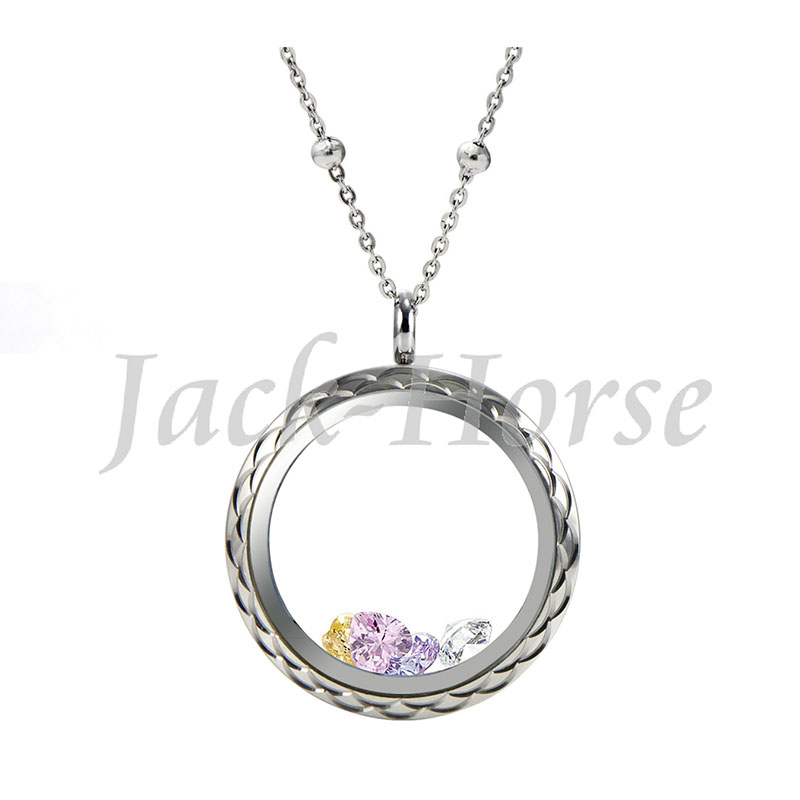 New arrival waterproof 316L stainless steel locket fashion floral designs glass living memory locket pendant
