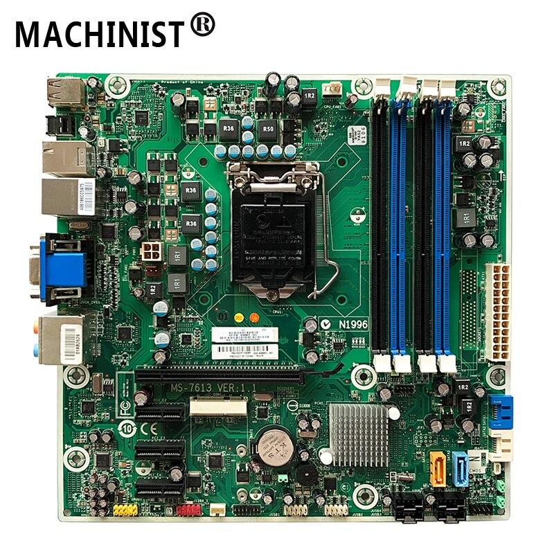 MS 7613 Hp プロ 3130 7100 H57 デスクトップマザーボード lga 1156 DDR3 608885 001 575765 001 送料無料完全にテスト  グループ上の パソコン & オフィス からの マザーボード の中 1