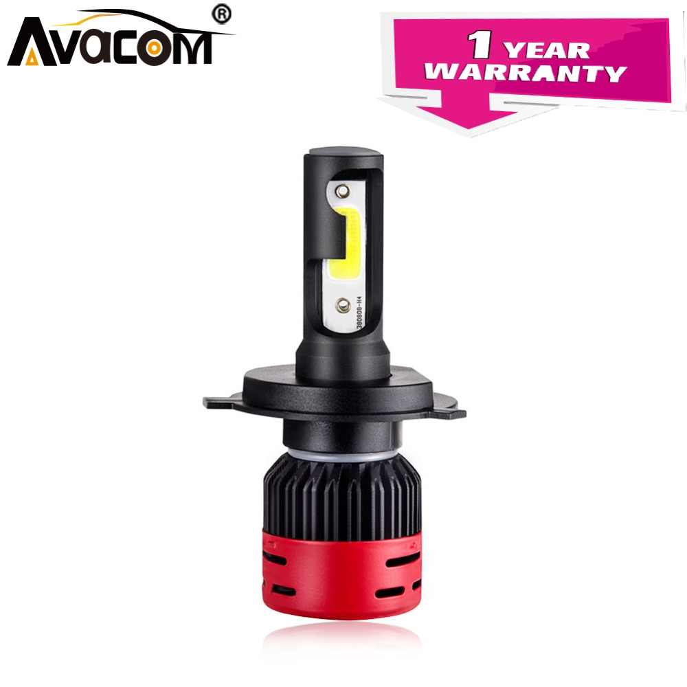 Avacom 1 Pcs LED HS1 H4 Motorcycle Headlights Lamp 6500K COB 12V 4000Lm 36W H1 H3 H7 H11 LED Fog Lights For Motorbike Scooter
