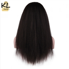 KL Hair Full Lace Human Hair Wigs Kinky Straight Natural Color Brazilian Remy Hair Lace Wigs For Black Women With Baby Hair