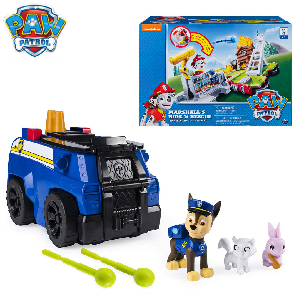 2019 Genuine Paw Patrol Chases Ride n Rescue Vehicle Transforming 2-in-1 Playset Police Cruiser for Kids Aged 3+ children toy2019 Genuine Paw Patrol Chases Ride n Rescue Vehicle Transforming 2-in-1 Playset Police Cruiser for Kids Aged 3+ children toy
