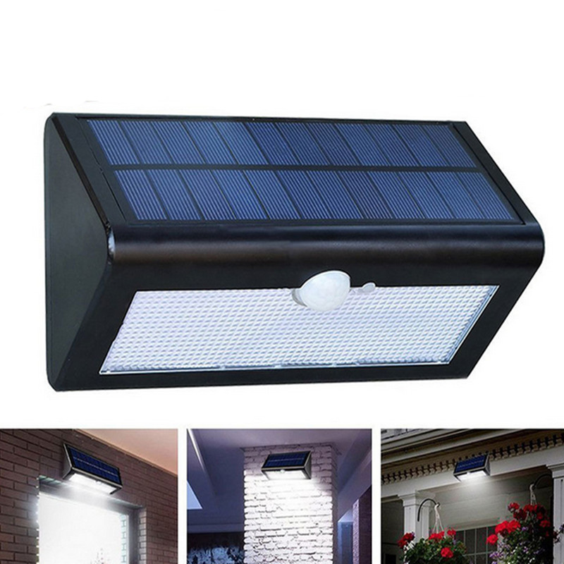 Energy-saving  waterproof led solar lights courtyard radar sensor street lamps wireless garden wall lamp Outdoor lighting dhl ems 4 sets new for sch neider ic65h dc 2p c4a breaker