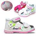 2016 Лето 1 пара Детские поддержки свода Сандалии Девушка Shoes, Супер Качество Дети/Детская Мягкая Shoes