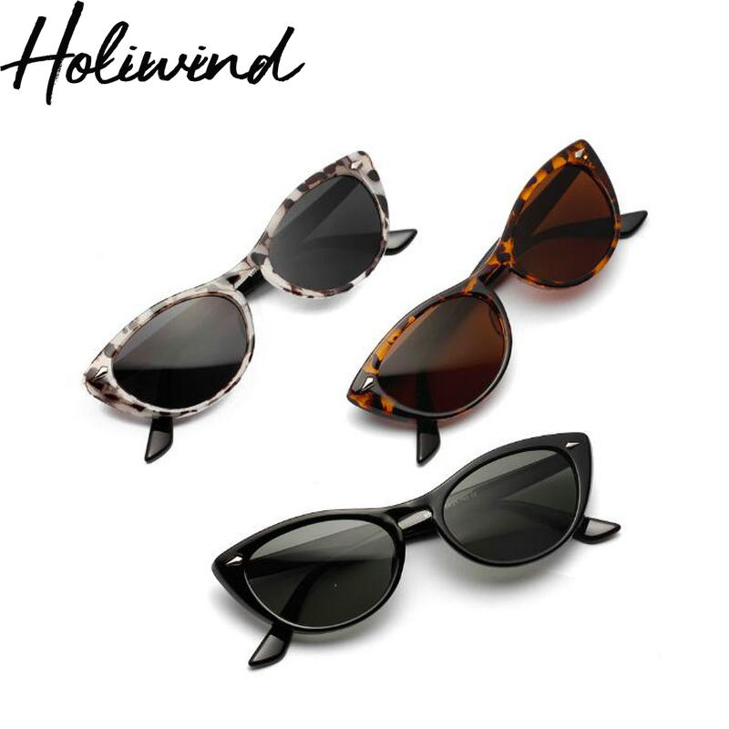 2019 Summer Women Vintage Cat Eye Sunglasses Tortoise Frame Sun Glasses Trendy Oversize Women UV Protect Sunglasses
