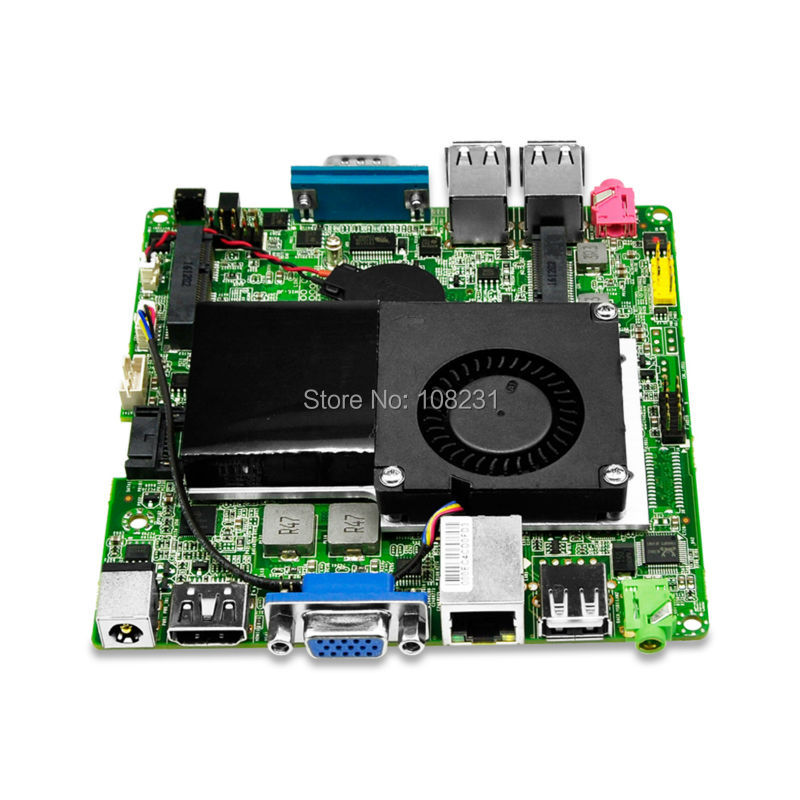 Mini ITX motherboard with Celeron 1037U processor onboard, dual core 1.8 GHz, support win7/8/10/linux OS ga pcv2 mini itx motherboard low power onboard bt 100