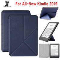 Para 2019 Amazon todo-Nuevo Kindle Touch 10 generación e-lector J9G29R funda de transformador inteligente + protector de pantalla