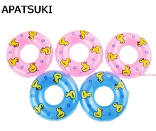 5Pcs lot Dolls Accessory Swimming Buoy Lifebelt Ring For Barbie Doll Accessories Baby Girl Dollhouse Toys