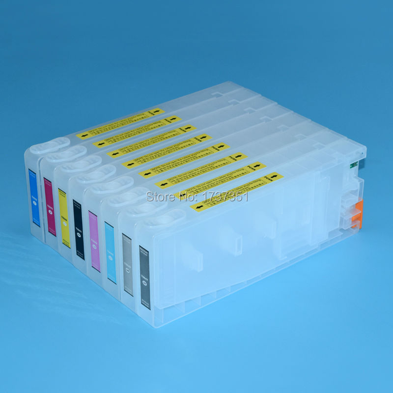 T6041 T6041-T6049 For Epson Stylus Pro 7880 printer ink cartridge with resettable chip 8 color 350ml