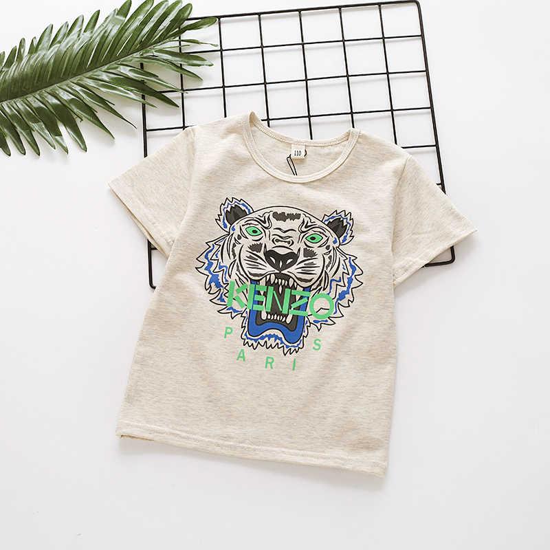 be398ec2065 2019 Summer Kids Tiger Printing T-shirts Summer Boys Girl 100% Cotton  Animal Print