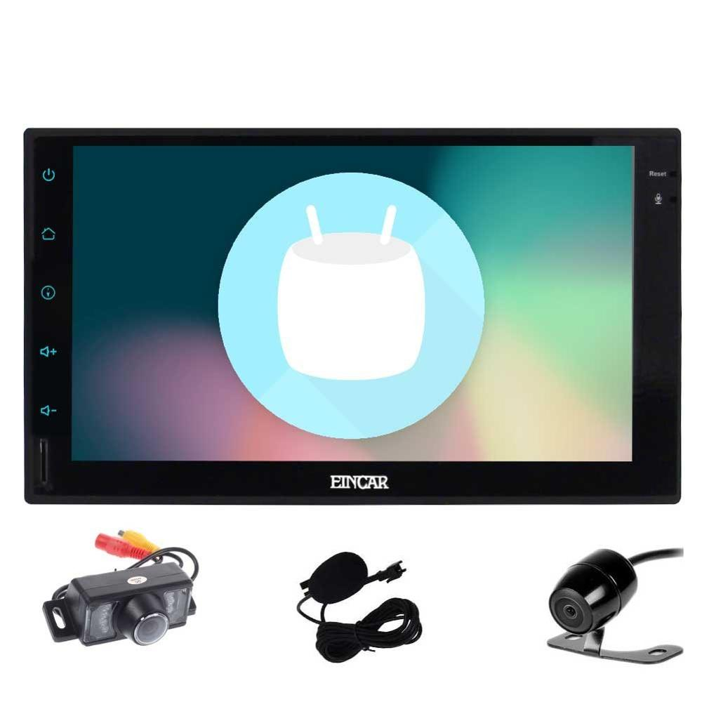 Double Din EinCar Android 6 0 Car Stereo with 7 Full touch screen In Dash Navigation