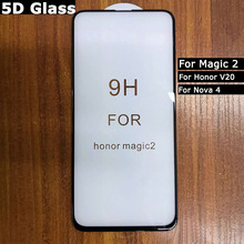 10Pcs/Lot Full Cover/ Glue Screen Protector For Huawei Honor Magic 2 V20 Nova4 Tempered Glass Protective Magic2 Film