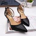 2017 Nuevo de Las Mujeres Sandalias de Diamantes de Imitación Femenina del verano Tacones Altos zapatos de Boda de la Correa Del Tobillo Zapatos de Las Señoras de Las Mujeres Bombea calzado sandalias