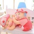 1 шт. 40/50/60 см Улыбка Папа Свинья Плюшевые игрушки, спальные подушки куклы, большой свиньи куклы любителей, девушки подарок на день рождения, рождественский подарок