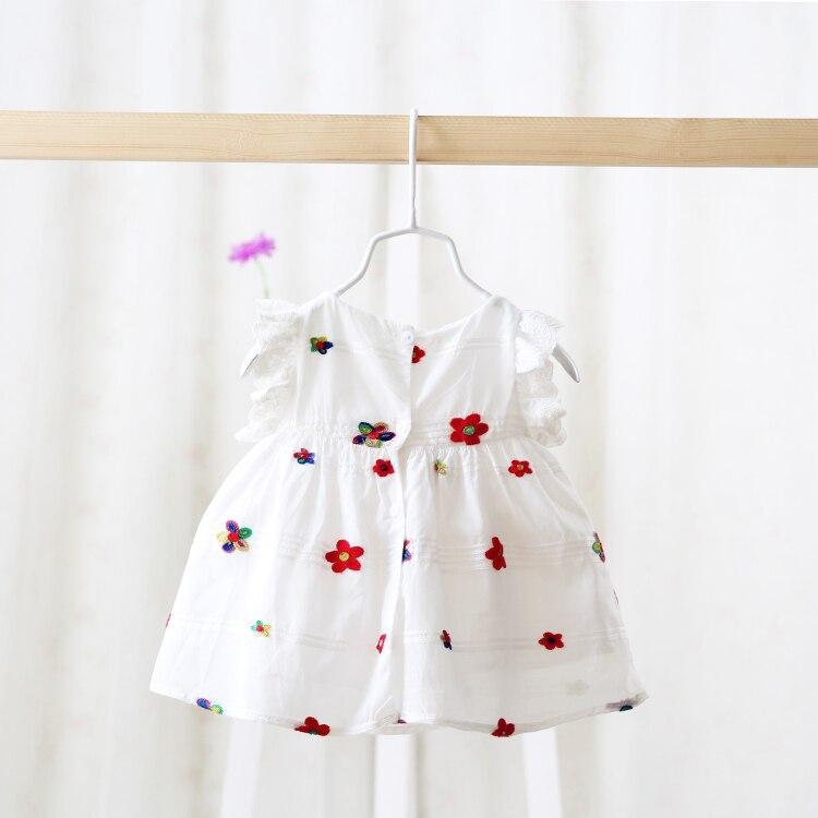 Summer Promotion Girls Dress Sleeveless Round Collar Fruit ...