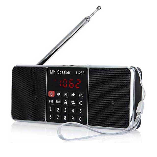 Portable Mini L-288 FM Radio Speaker Music Player With LCD Screen TF Card USB Disk Support Volume Control Loudspeaker Radio