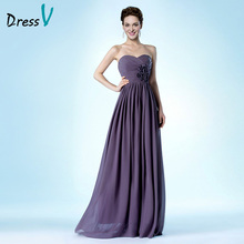 Hot Sale Long Bridesmaid Dress Cheap A-Line Sweetheart Pleats Flowers Wedding Guest Gown Custom Made 10798923